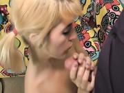 Teen Brandy stroking her professor