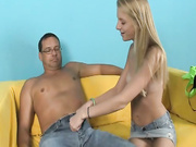 Young Chasity jerk off her step dad