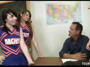 Cheerleader teens Pocahontas and Dakota Charms