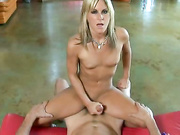 Courtney Simpson jerking off a shaft