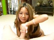 Keeani Lei rubbing a cock