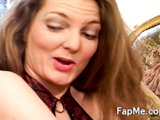 Naughty MILF gives head to a guy