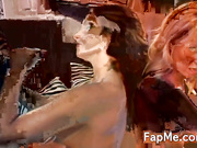 Two lovely girls sharing fat cocks