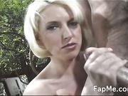 Hottie makes a big cock so damn hard