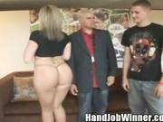 Sara Jay Giving Handjob