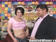 Cassidy Lynn wanking off a dick