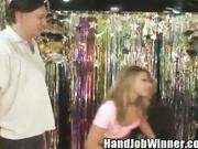 Porn Star Cindy Hope Gives a Handjob