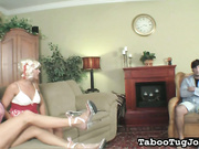Stepsister wanking Off