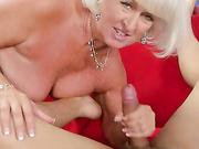 Grandma Jeannie Lou Sucks A 24-year-olds Cock