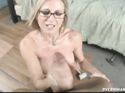 MILF handjob with young guy