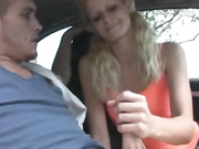 Car Jacking Handjob