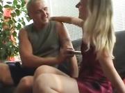 Blonde teen demands his dick