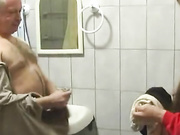 Daddy cought her in the bathroom
