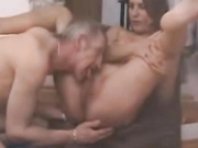 Family blowing and licking