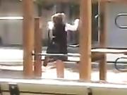 Dude punishing a bad girl