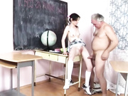 Young babe pounded in classroom
