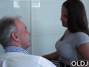 Old Young Big Tits Teen Gives Titjob