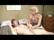 Granny Scarlet Helps William Masturbate