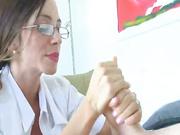 Sexy Dr Ferrera gave a handjob for treatment