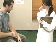 Nurse Jenna Jaded tugs his large tadger
