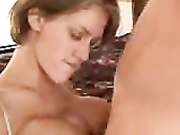 Cutie whacking dick and titty fucking