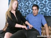Desiree stroking huge-size boner