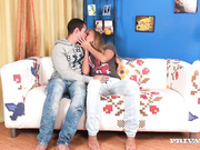 Milla Takes a Hard Cock in Her Pussy and Ass before