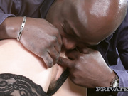 Mary Kalisy Wears Lingerie for Interracial Sex