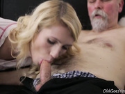 Sexy Helena blows old goes young guy away with her awesome