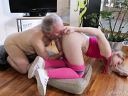 Renate was driven wild and fucked by this old goes young guy