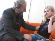 When Vika's boyfriend walks in on her fucking an old guy