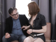 Tess was horny so she went and made her tricky old teacher
