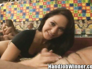 Jessica Valentino Gives a Hand Job