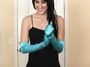 Vanessa Loves Satin Gloves