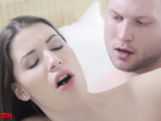 Brunette cutie gets fucked doggystyle by her bf