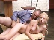 Blonde daughter doggy fucked