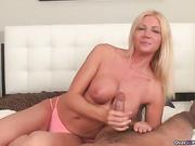 Christina loves teasing big boners