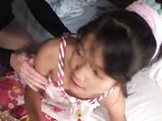 Thai young girl Aiko takes hard cock