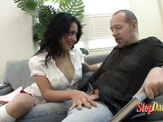 Cute Stepdaughter Shows Herself