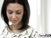 Young brunette Katarina Muti takes the cock