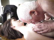 Step dad and step daughter have kinky sex because they are