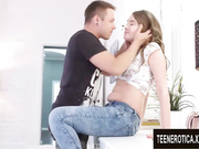 Sweet Asian Teen Ann Rice Has Her Pussy Plowed by a White