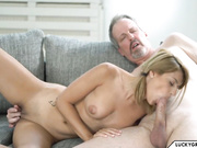 Granddaughter takes care of Grandpa