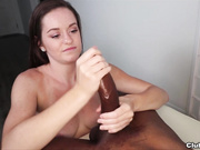 Amber Mae Milks Monster Black Cock