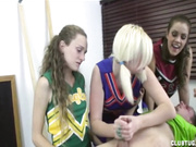 Cheerleader Handjob Competition