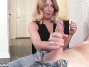 Mrs Summers loves stroking cocks