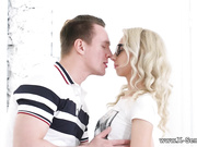 Making love to nerdy blonde