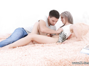 Hot nubile couple making love
