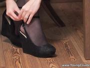 Fucking courtesan in stockings